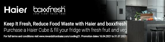 Haier - Cube Fridge Freezer and received BoxxFresh - 31.07.2021