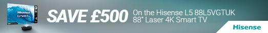 Hisense - Save £500 on the 88L5VGTUK - 30.09.2021