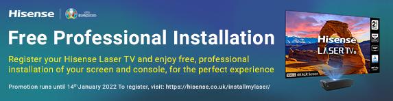 Hisense - Free Professional Installation on TVs - 14.01.2022