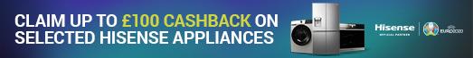 Hisense - Cashback Up to £100 - 08.06.2021