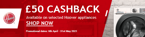 Hoover - £50 cashback on laundry, ovens and refrigeration - 30.04.2021
