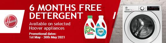 Hoover - 6 months free detergent - 30.05.2021