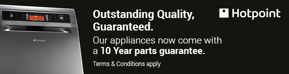 Hotpoint 10 Year Parts and 1 Year Labour Guarantee - Agency and Non Agency - 31.12.2020