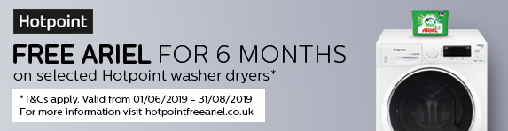 Hotpoint Free Ariel Promotion 01.06.2019 - 31.08.2019