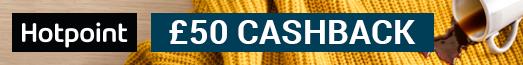 Hotpoint £50 Laundry Cashback 01.10.18 - 09.11.18