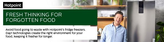 Hotpoint Fresh Thinking Campaign with Jamie Oliver - Fridge Freezers 16.09.2019 - 27.10.2019