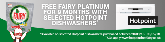 Hotpoint Free Fairy for 9 Months Promotion