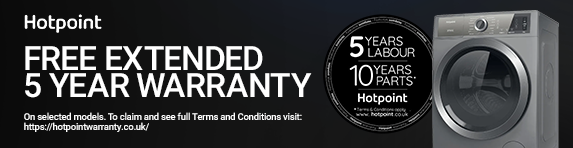 Hotpoint - 5 year warranty on selected washing machines - 31.12.2021