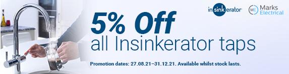 insinkerator - 5% Discount - 31.12.2021