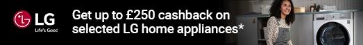 LG - Up to £250 Cashback on Laundry - 30.09.2021