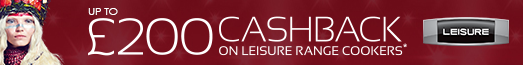 Leisure up to £200 Cashback Promotion (Please claim your cashback using Euronics as your Retailer) - 12.09.2019 - 22.01.2020