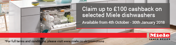 Miele Up to ?100 Cashback on Dishwashers 04.10.2017-30.01.2018