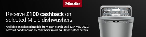 Miele Dishwasher Cashback 18.03.2020 - 13.05.2020