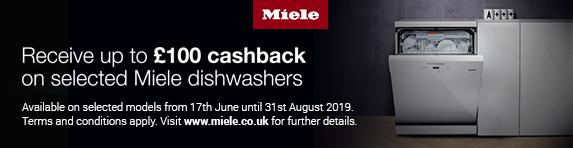 Miele Dishwasher Cashback 17.06.2019 - 31.08.2019