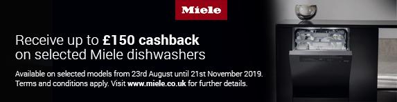 Miele Dishwasher Cashback 23.08.2019 - 21.11.2019