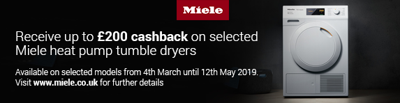 Miele Tumble Dryer Cashback 04.03.2019 - 12.05.2019
