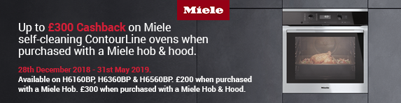Miele Contourline Up to ?300 Cashback 28.12-31.05.2018