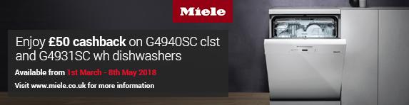 Miele Dishwasher Cashback ?50 01.03.2018-08.05.2018