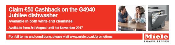 Miele G4940 Jubilee Cashback 03.08-01.11.2017