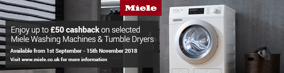 Miele ?50 Cashback on WDB036 and WDD020 01.09-15.11.2018