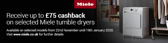 Miele Tumble Dryer Cashback 22/11/2019 - 19/01/2019