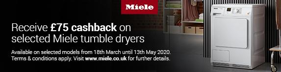 Miele Condenser Dryer Cashback 18.03.2020 - 13.05.2020