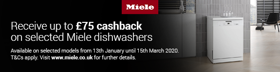 Miele Dishwasher Cashback 13.01.2020 - 15.03.2020