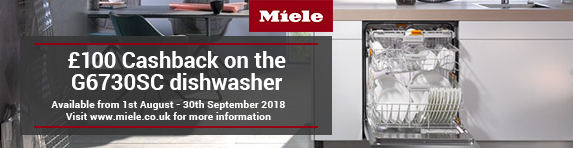 Miele ?100 Cashback on G6730SC White and Cleansteel. 01.08-30.09.2018