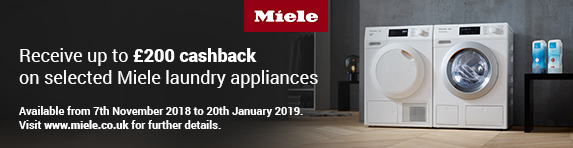 Miele Up to ?200 Cashback Laundry 07.11-20.01.2019