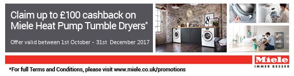 Miele Tumble Dryer New T1 Cashback 01.10-31.12.2017