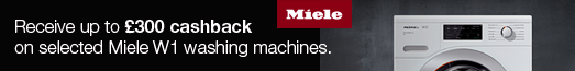 Miele Laundry Cashback up to £300 09.04.2019 - 16.06.2019