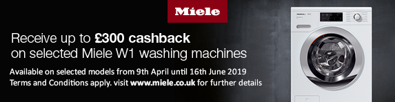 Miele Laundry Cashback up to ?300 09.04.2019 - 16.06.2019