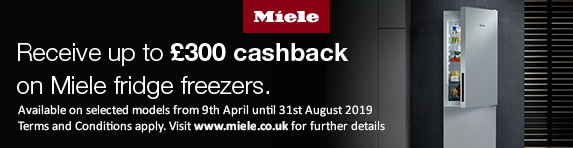 Miele Refrigeration Cashback up to ?300 09.04.2019 - 31.08.2019