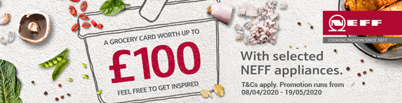 Neff up to £100 Grocery Prepaid Card Promotion 23.10.2019 - 03.12.2019