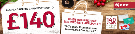 NEFF Grocery Prepaid Card Up to ?140 06.09.17 - 31.10.17