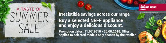 NEFF Summer Sale 11.07.2018 - 28.08.2018