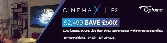 Optoma - Save ?500 on CinemaX P2 - 30.07.2021