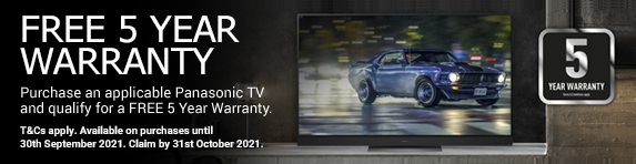 Panasonic - 5 year guarantee - 30.09.2021