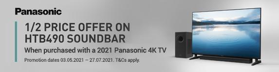 Panasonic - Half Price SC-HTB490EBK with 2021 TV - 27.07.2021