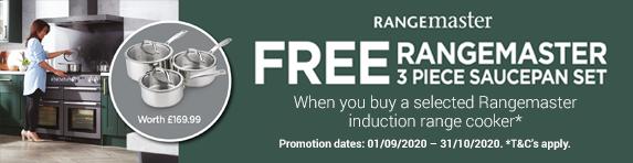 Rangemaster Free Saucepan Set Promotion 01.09.2020 - 31.10.2020
