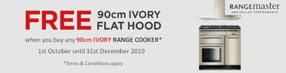 RANGEMASTER - Free Hood 90cm Ivory Range Cooker 01/10/2019 - 31/12/2019