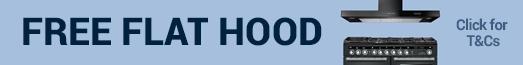 Buy a Rangemaster Encore Deluxe Range Cooker and get a Rangemaster Flat Hood Free Hood