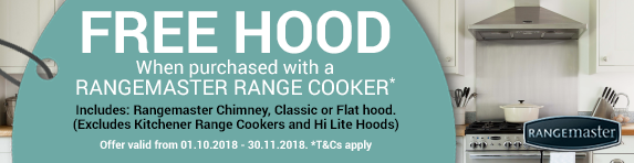 Rangemaster Free Hood Promotion 01.08.2018 - 31.08.2018