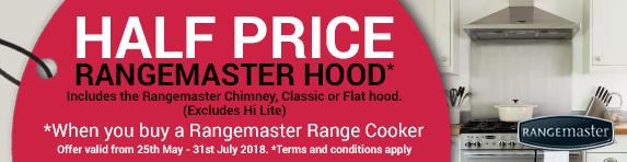 Rangemaster Half Price Hood 25.05-31.07.2018