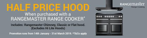 Rangemaster Half Price Hood Promotion 14.01-31.03.2019