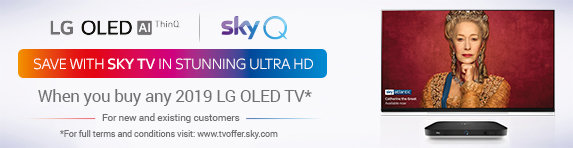 LG SkyQ Promotion - Redeem a discounted Sky TV entertainment package after purchasing selected LG TV's 23.10.2019 - 23.01.2020