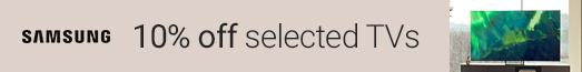 Samsung - 10% discount on QLED TVs - 27.07.2021