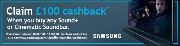 Samsung Soundbar - ?100 Cashback