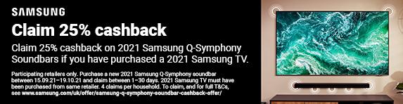 Samsung - 25% cashback on selected soundbars - 19.10.2021