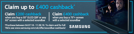 Samsung - TV and Soundbar Cashback